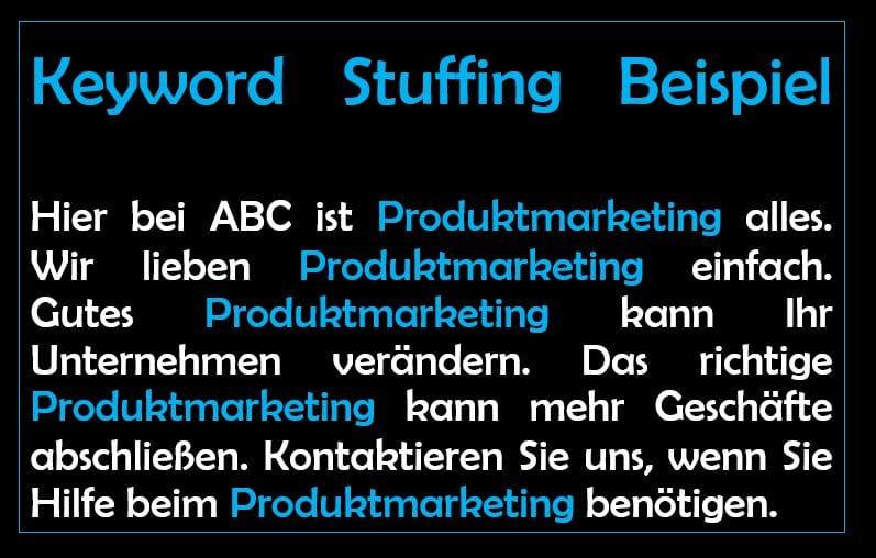 keyword stuffing beispiel