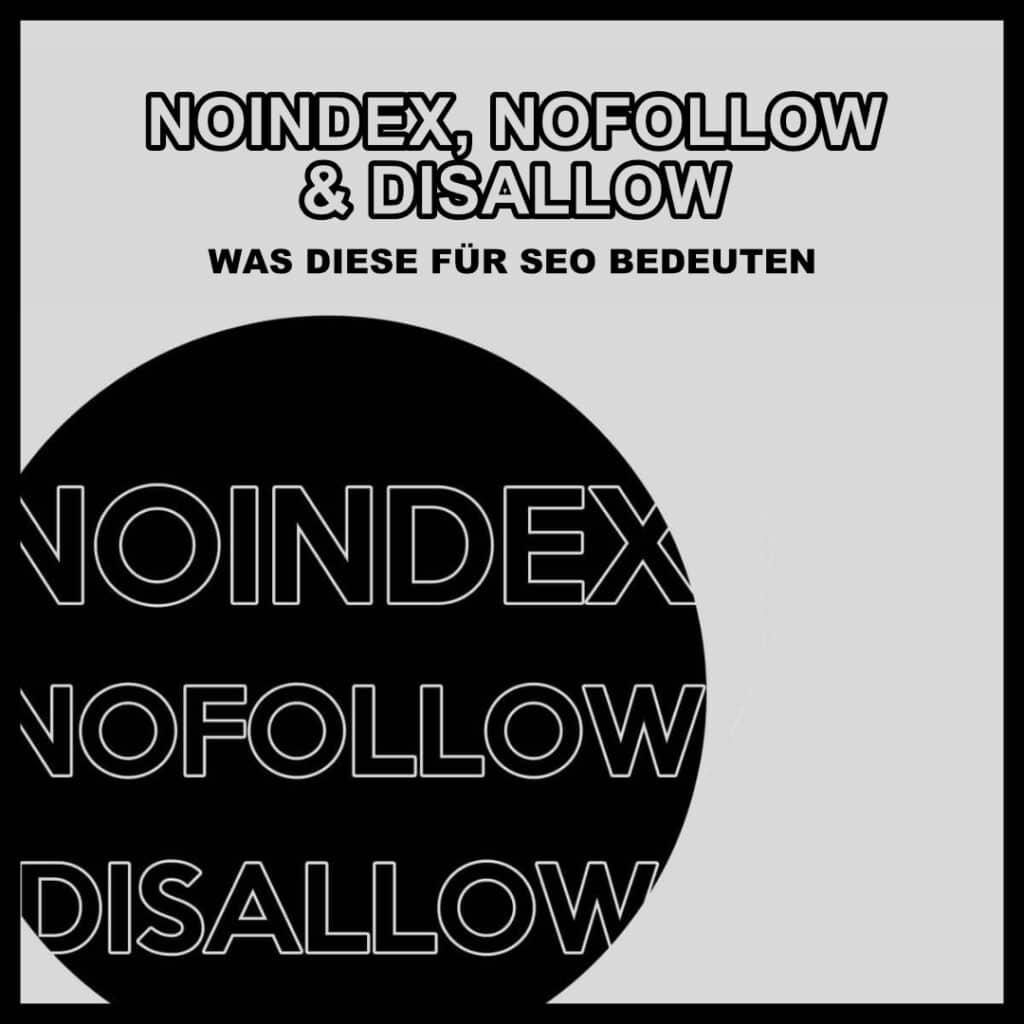 Noindex Nofollow Disallow SEO